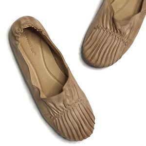 Chocolat Blu Cam2 Pleated Leather Ballet Flat